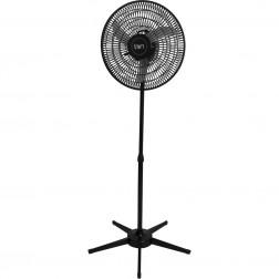 Ventilador Pedestal Oscilante 50 cm PP 110V Preto