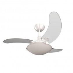 Ventilador de Teto Aura Branco 110V 3 Pás Transparentes