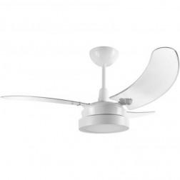Ventilador Búzios LED Branco 110V 3 Pás Transparentes