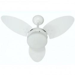 Ventilador Ventura Branco Rattan 220V 3 Pás Brancas