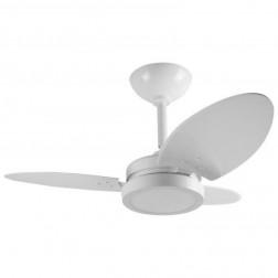 Ventilador Ventura LED Branco 110V 3 Pás Brancas