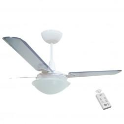 Ventilador Strill Branco 110V 3 Pás Transparentes e Controle Remoto