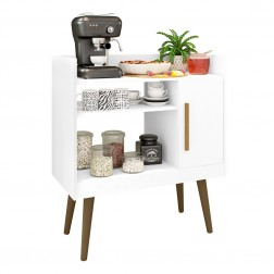 Buffet Mesinha Coffee com Porta Phill Branco
