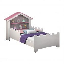 Mini Cama Castelo Encantado Branca Rosa