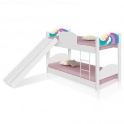 Beliche Unicórnio Arco Íris Kids com Escorregador e Colchões