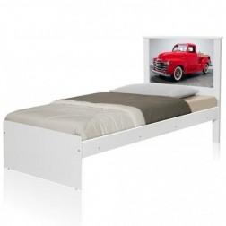 Cama Solteiro Carro Classic Red