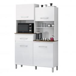Armário Cozinha Completa Pérola Branco