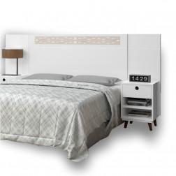 Cabeceira Regulável Box Moderny Branco Off White