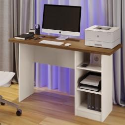 Mesa De Computador Lipe Canela e Off White