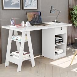 Mesa De Computador Pote Branco