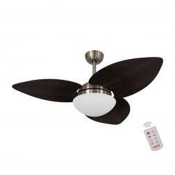 Ventilador de Teto Kovalski Bronze 3 Pás Tabaco 220V com Controle