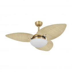 Ventilador de Teto Kovalski Dourado 3 Pás Palmae Natural 127V