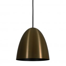 Pendente Oval Current Bronze Preto