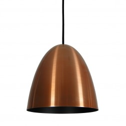 Pendente Oval Current Cobre Preto