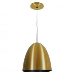 Pendente Oval Current Dourado Preto